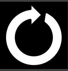 circle arrow the white color icon vector image