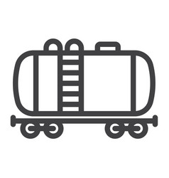 cistern oil train line icon logistic and delivery vector image