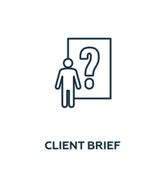 Client brief icon symbol creative sign from vector