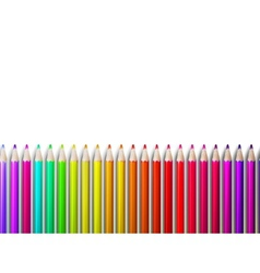 Colorful pencil crayons on white plus EPS10 vector image