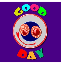 Comic plate Good Day vector