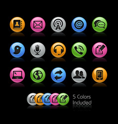 communications icons - gelcolor series vector image