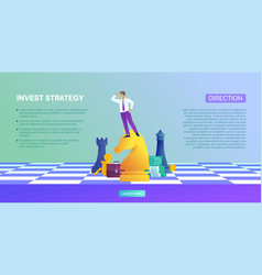 Concept investment invest strategy and finance vector