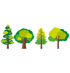 different designs of trees vector image