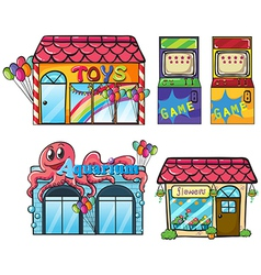 Different Stores vector image vector image