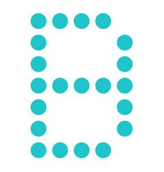 digital letter b display board round dot vector image