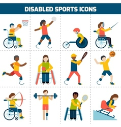 Disabled Sports Icons vector image vector image