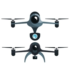 Drone technology modern icon vector