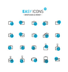 Easy icons 05d briefcases vector