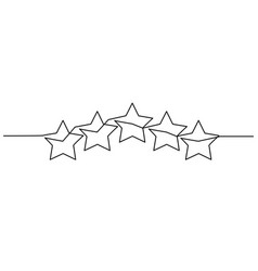 five stars customer product rating review icon vector image
