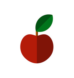 Flat apple icon isolated on white vector