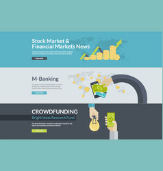 flat design concepts for business and finance vector image