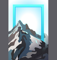 futuristic landscape background mountain vector image
