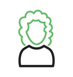 Girl with curly hair vector
