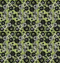 Green abstract background with circles vector image