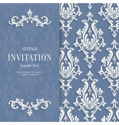 Grey Floral 3d Christmas and Invitation vector