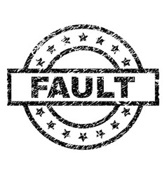 Grunge textured fault stamp seal vector