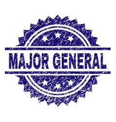 Grunge textured major general stamp seal vector