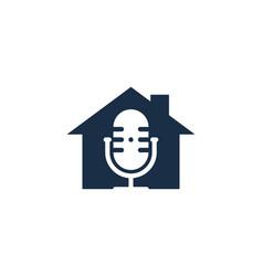 home podcast logo icon design vector image