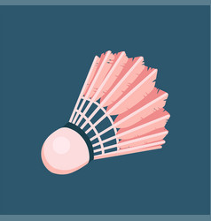 icon toy shuttlecock for badminton from bird vector image
