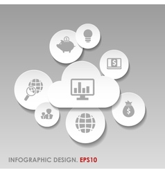 infographic or web design template vector image