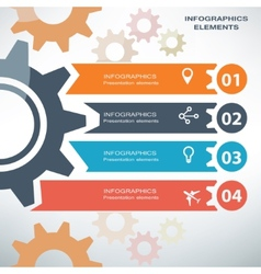infographics template gear and process concept vector image
