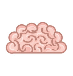 Isolated pink brain vector