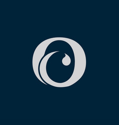letter o c icon logo vector image