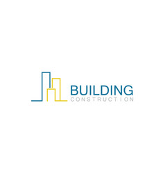 line building construction logo vector image