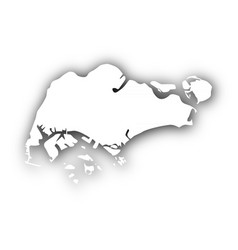 map of singapore with shadow vector image