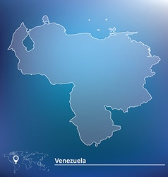 Map of Venezuela vector image