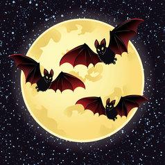 moonbats vector image
