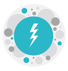 of air symbol on bolt icon vector image
