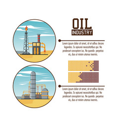 oil industry infographic vector image