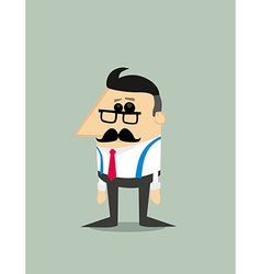 Older Cartoon businessman vector image