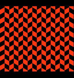 orange and black herringbone check pattern vector image