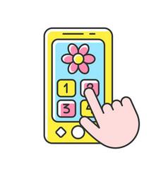 Playphone rgb color icon vector