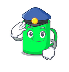 Police mug character cartoon style vector