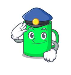 police mug character cartoon style vector image