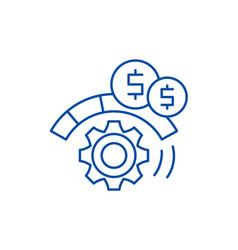 Process optimization line icon concept process vector