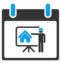 Realty developer calendar day toolbar icon vector