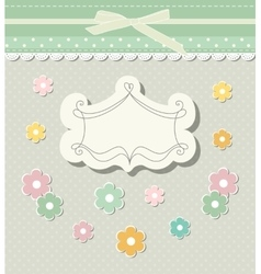 Romantic scrap booking template for invitation vector image