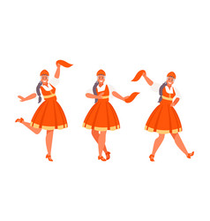 russian dance set vector image
