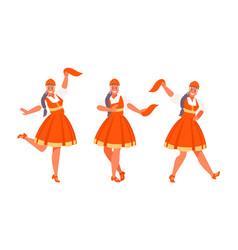 russian dance set vector image
