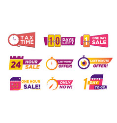 Sale countdown badges business limited special vector