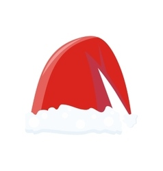 Santa claus red hat vector