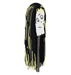 scary wig on white background vector image