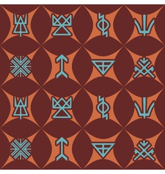 Seamless background with Slavic pagan symbols vector