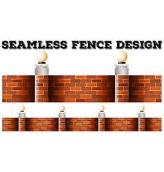 Seamless brick wall design vector