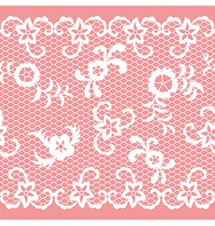 Seamless lace ribbon vector